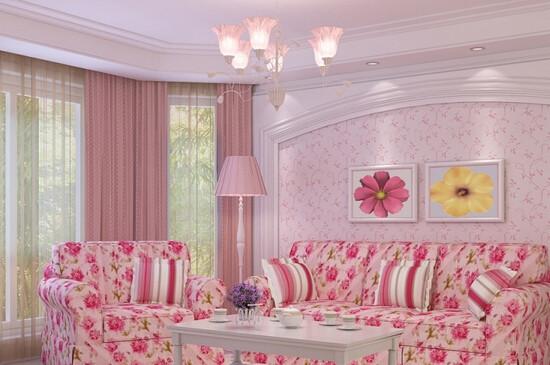 韩式田园风格客厅清新浪漫的客厅搭配